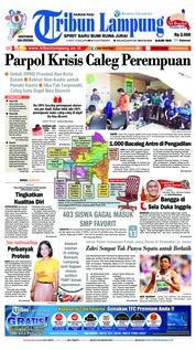 Cover Tribun Lampung 13 Juli 2018