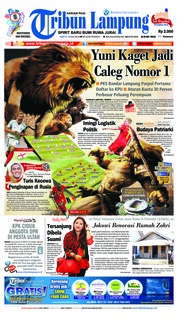 Cover Tribun Lampung 14 Juli 2018