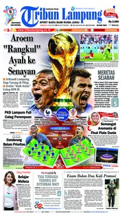 Cover Tribun Lampung 15 Juli 2018