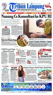 Cover Tribun Lampung 17 Juli 2018
