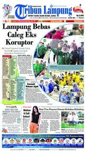 Cover Tribun Lampung 18 Juli 2018