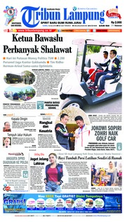 Cover Tribun Lampung 19 Juli 2018