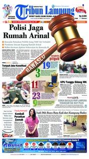 Cover Tribun Lampung 20 Juli 2018
