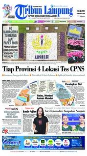 Cover Tribun Lampung 15 Agustus 2018