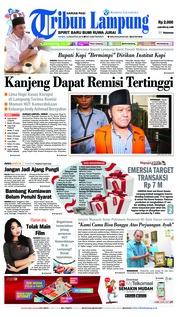 Cover Tribun Lampung 16 Agustus 2018