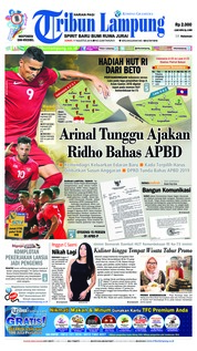 Cover Tribun Lampung 17 Agustus 2018
