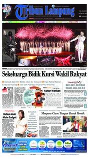 Cover Tribun Lampung 19 Agustus 2018