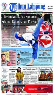 Cover Tribun Lampung 20 Agustus 2018