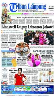Cover Tribun Lampung 21 Agustus 2018