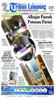 Cover Tribun Lampung 16 September 2018