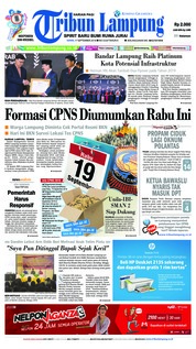 Cover Tribun Lampung 17 September 2018