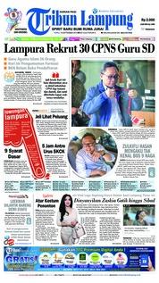 Cover Tribun Lampung 19 September 2018