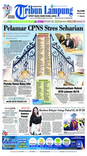 Tribun Lampung Cover 20 September 2018