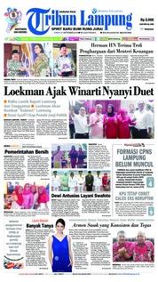Cover Tribun Lampung 21 September 2018