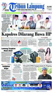 Cover Tribun Lampung 22 September 2018