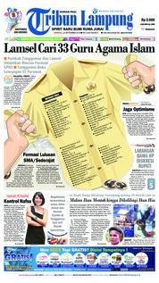 Cover Tribun Lampung 23 September 2018