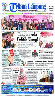 Cover Tribun Lampung 24 September 2018