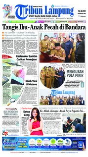 Cover Tribun Lampung 25 September 2018