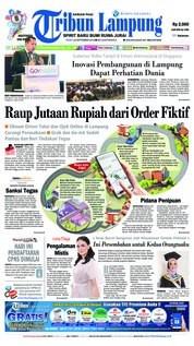 Cover Tribun Lampung 26 September 2018