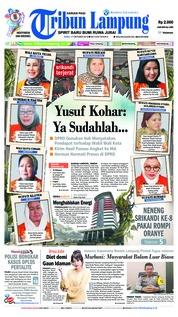 Cover Tribun Lampung 17 Oktober 2018