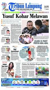 Cover Tribun Lampung 18 Oktober 2018