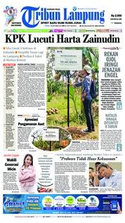 Cover Tribun Lampung 19 Oktober 2018