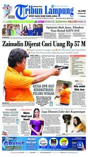 Cover Tribun Lampung 20 Oktober 2018