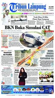 Cover Tribun Lampung 23 Oktober 2018