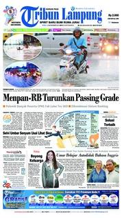 Cover Tribun Lampung 14 November 2018