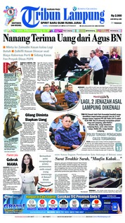 Cover Tribun Lampung 15 November 2018