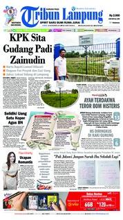 Cover Tribun Lampung 16 November 2018