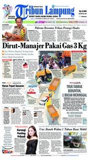 Cover Tribun Lampung 17 November 2018