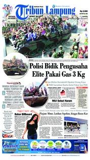 Cover Tribun Lampung 18 November 2018
