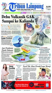 Cover Tribun Lampung 19 November 2018