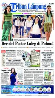 Tribun Lampung Cover 21 November 2018
