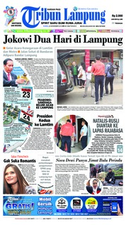 Cover Tribun Lampung 22 November 2018