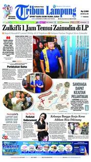 Cover Tribun Lampung 08 Desember 2018