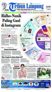 Cover Tribun Lampung 09 Desember 2018