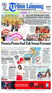 Cover Tribun Lampung 10 Desember 2018