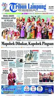 Cover Tribun Lampung 13 Desember 2018
