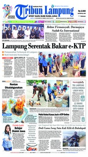 Cover Tribun Lampung 15 Desember 2018