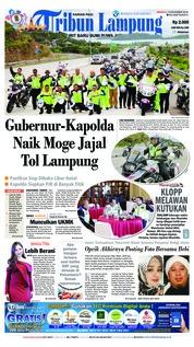 Cover Tribun Lampung 16 Desember 2018