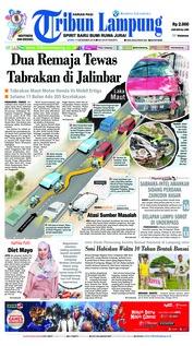 Cover Tribun Lampung 17 Desember 2018