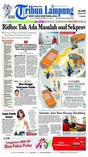 Cover Tribun Lampung 19 Desember 2018