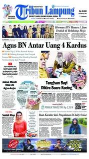 Cover Tribun Lampung 15 Januari 2019