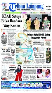Cover Tribun Lampung 16 Januari 2019