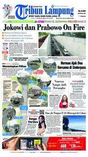 Cover Tribun Lampung 17 Januari 2019
