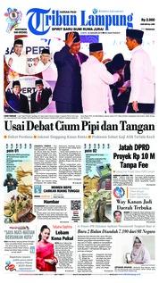 Cover Tribun Lampung 18 Januari 2019