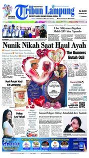 Cover Tribun Lampung 19 Januari 2019