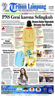 Cover Tribun Lampung 20 Januari 2019